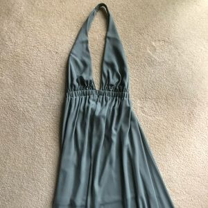 Show me your mumu sea foam green halter dress